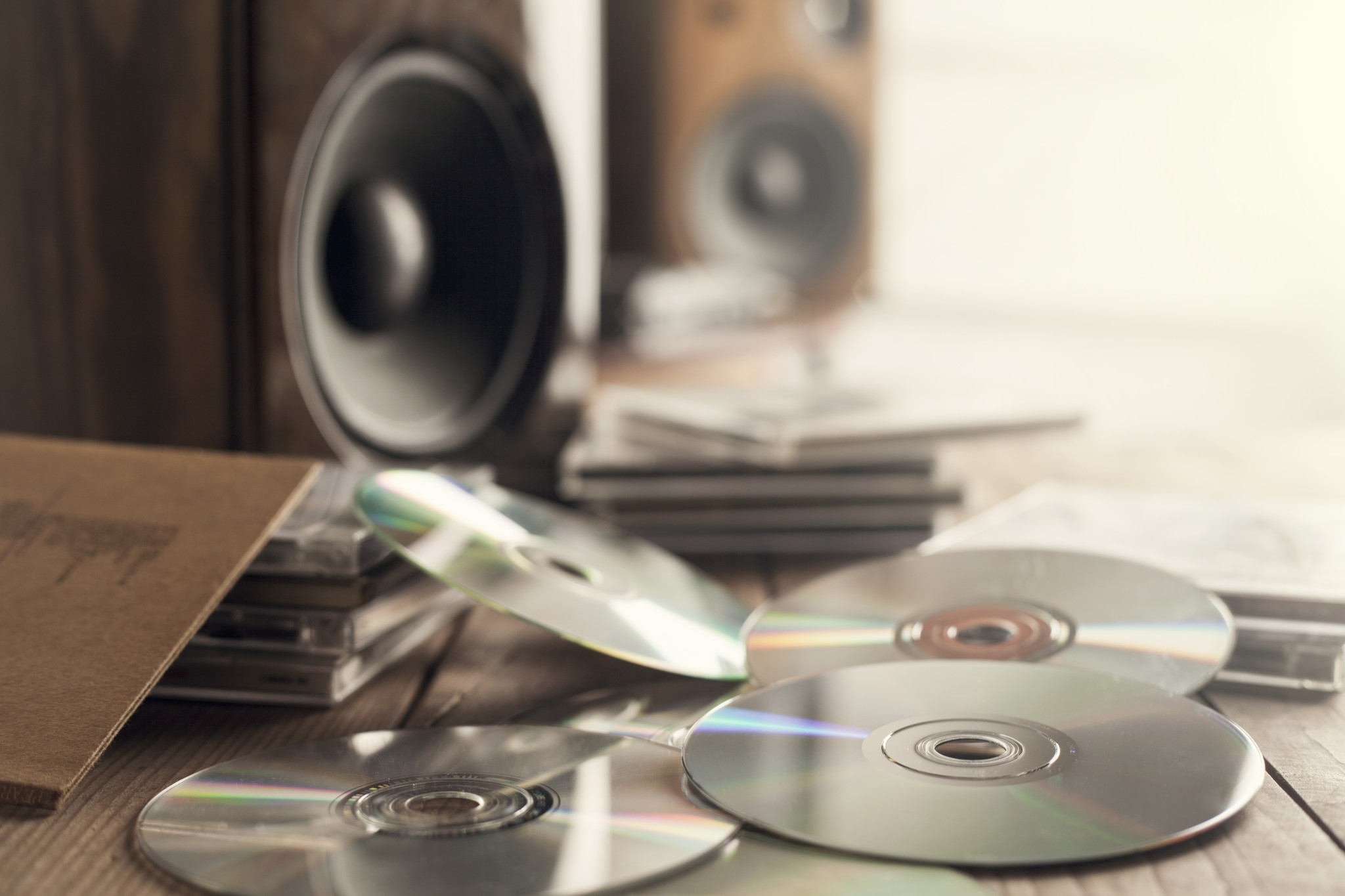 Pile of CD-Rs